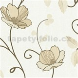 Tapety na stenu Trésor Reloaded - japonské kvety - zlaté
