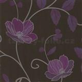 Luxusné tapety Trésor - japonské kvety - fialové