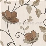 Luxusné tapety Trésor - japonské kvety - medené