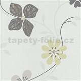 Vliesové tapety na stenu Tribute - kvety moderné žlto-hnedé