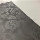 Obrus metráž kvetinový vzor hnedý