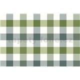 Obrus metráž kocky zeleno-sivé
