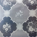 Obrus metráž transparentný vzor matný