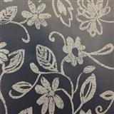 Obrusy metráž transparentný obrus s bielym kvetmi matný povrch
