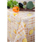 Obrusy návin 20 m x 140 cm citróny na krémovom podklade