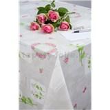 Obrusy návin 20 m x 140 cm Romantic kvety