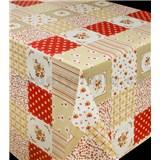 Obrusy návin 20 m x 140 cm patchwork červený