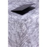Obrusy návin 20 m x 140 cm textilná štruktúra sivá