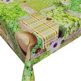 Obrus metráž letná záhradka s textilnou štruktúrou