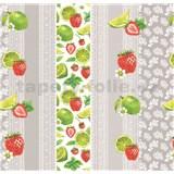Obrus metráž čipka s ovocím a mätou