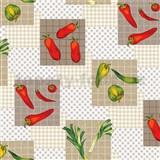 Obrus metráž papriky červeno-zelené