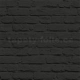 Vliesové tapety na stenu Just Like It tehla čierna s nátěrom