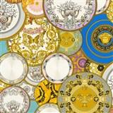 Luxusné vliesové  tapety na stenu Versace III koláž farebná