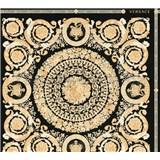 Luxusné vliesové  tapety na stenu Versace IV barokové ornamenty zlato-čierne