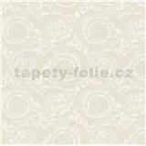Luxusné vliesové  tapety na stenu Versace III barokový kvetinový vzor krémový