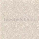 Luxusné vliesové  tapety na stenu Versace III barokový kvetinový vzor svetlo hnedý
