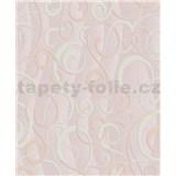 Vinylové tapety na stenu Vila moderný vzor béžový na ružovom podklade