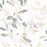 Vliesové tapety na stenu IMPOL Wall We Love 2 listy svetlo hnedo-strieborné s metalickým odleskom