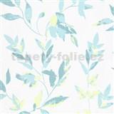 Vliesové tapety na stenu IMPOL Wall We Love 2 listy modro-zelené s metalickým odleskom