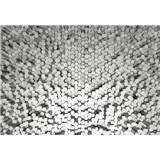 Fototapety 3D hexagony biele rozmer 368 x 254 cm