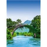 Vliesové fototapety most cez rieku v Číně rozmer 184 x 254 cm