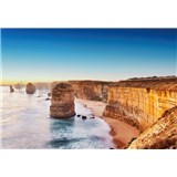Fototapety útes pri západe slnka v Austrálii rozmer 368 x 254 cm