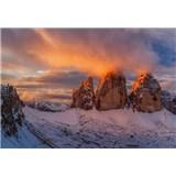 Vliesové fototapety Italské horské vrcholy rozmer 368 cm x 254 cm