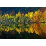 Vliesové fototapety jesenné lesné jazero rozmer 368 x 254 cm