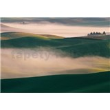Vliesové fototapety kopce v hmle rozmer 368 x 254 cm