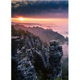 Vliesové fototapety východ slnka vo skalách rozmer 184 x 254 cm