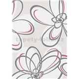 Vliesové tapety WohnSinn  kvety sivo-červené