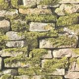 Vliesové tapety na stenu IMPOL Naturals ukladaný kameň s machom