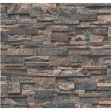 Papierové tapety na stenu Sweet & Cool kamene sivo-hnedé