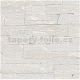 Vliesové tapety na stenu Brique 3D ukladané kamene svetlo sivé s výraznou plastickou štruktúrou