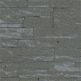 Vliesové tapety na stenu Brique 3D ukladané kamene tmavo sivé s výraznou plastickou štruktúrou