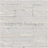Vliesové tapety na stenu Brique 3D ukladané kamene sivé s výraznou plastickou štruktúrou
