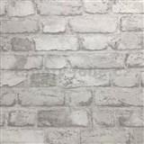 Vliesové tapety na stenu tehly svetlo sivé