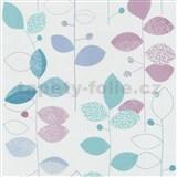 Papierové tapety na stenu X-treme Colors - listy modro-fialové