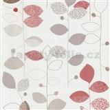 Papierové tapety na stenu X-treme Colors - listy červeno-hnedé