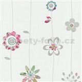 Papierové tapety na stenu X-treme Colors - kvetinky ružové