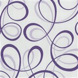 Tapety na stenu Confetti - stuhy fialové