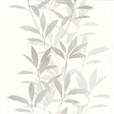 Tapety na stenu Dieter Bohlen - lístie sivé - ZĽAVA