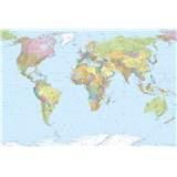 Vliesové fototapety mapa sveta 368 x 248 cm