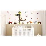 Samolepky na stenu zvieratá lesa