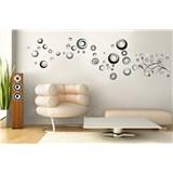 Samolepky na stenu abstraktné kolieska
