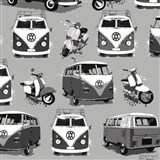 Papierové tapety Volkswagen bus and bike
