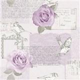 Papierové tapety na stenu Options ruže lila