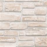 Vinylové tapety na stenu Wood'n Stone tehla svetlo hnedá