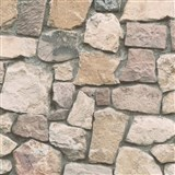 Papierové tapety na stenu Wood'n Stone kameň hnedý