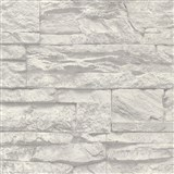 Vliesové tapety na stenu Wood'n Stone kameň sivo-biely